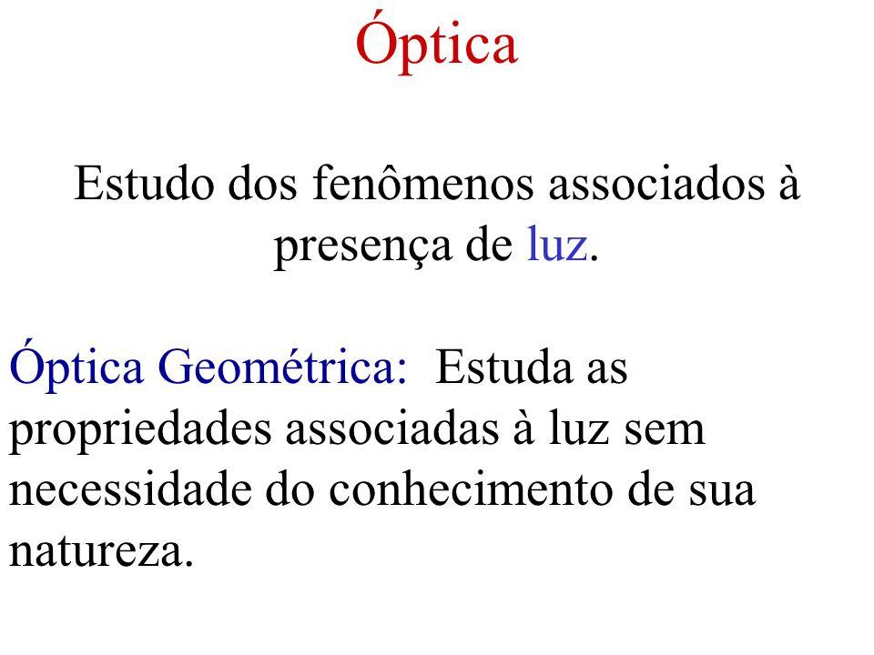 Estudo dos fenômenos associados à presença de luz.