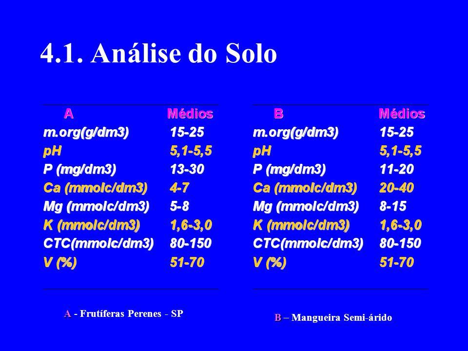 4.1. Análise do Solo A - Frutíferas Perenes - SP