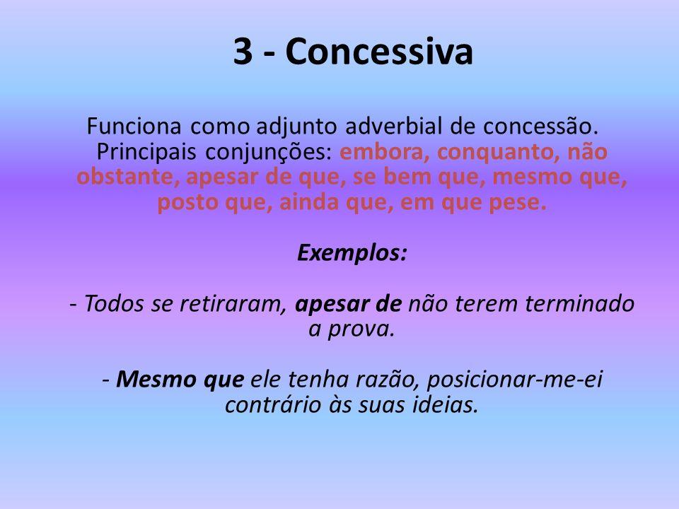 3 - Concessiva