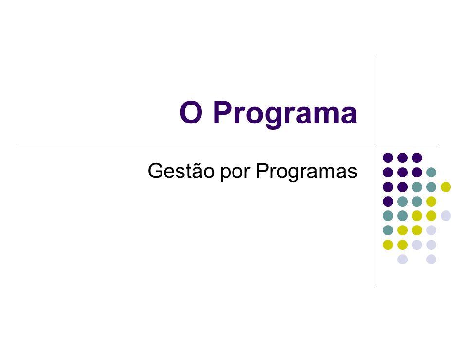 O Programa Gestão por Programas