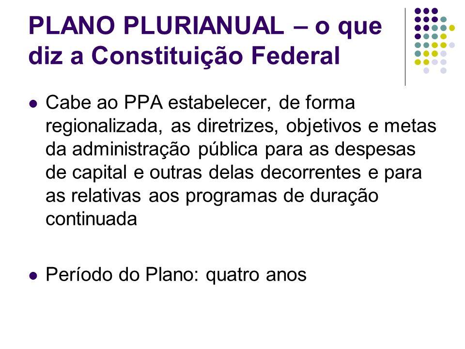 PLANO PLURIANUAL – o que diz a Constituição Federal
