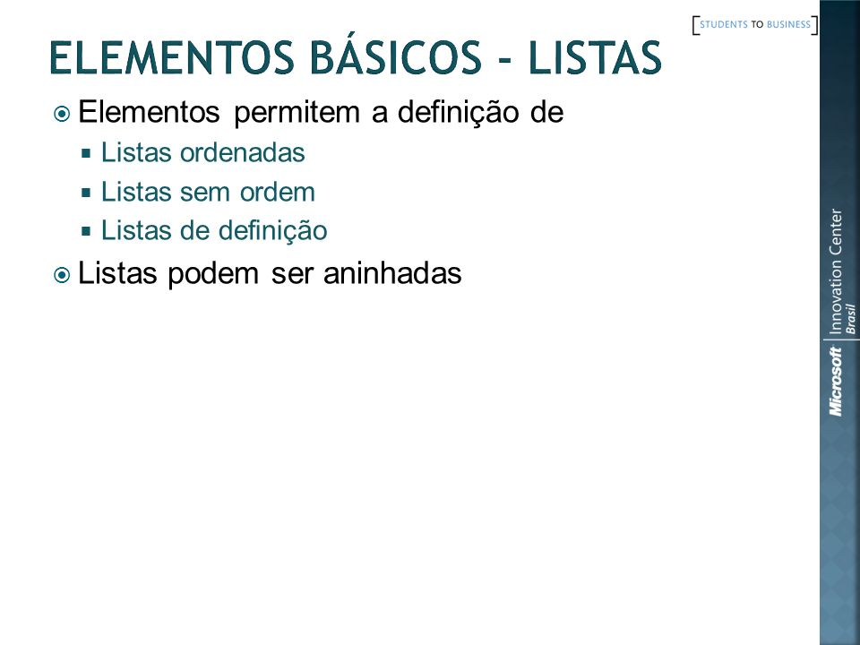 Elementos Básicos - Listas