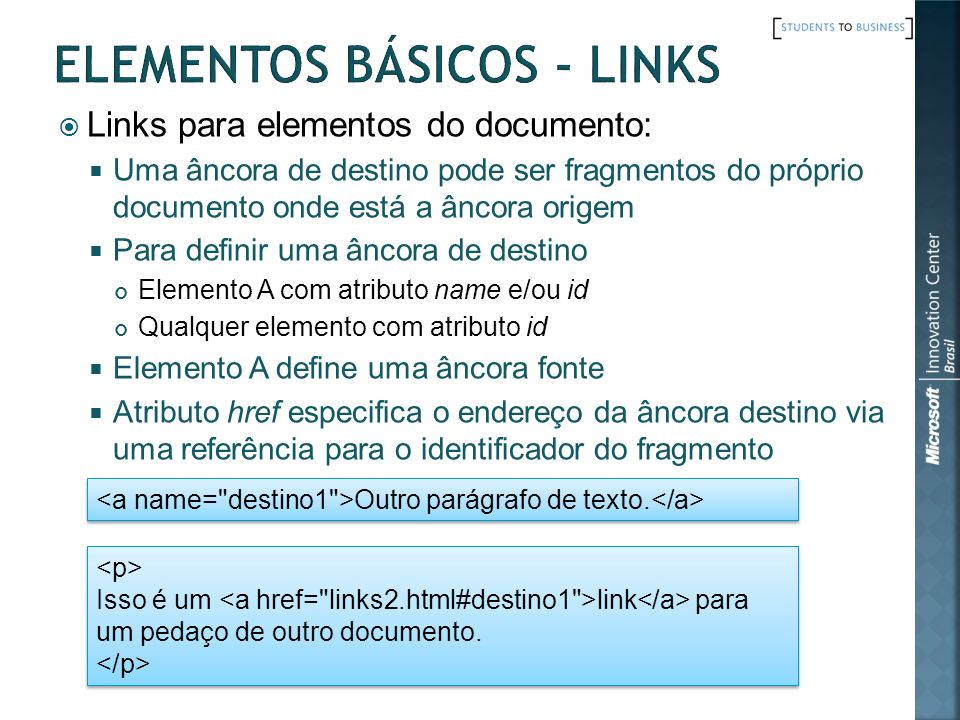 Elementos Básicos - Links