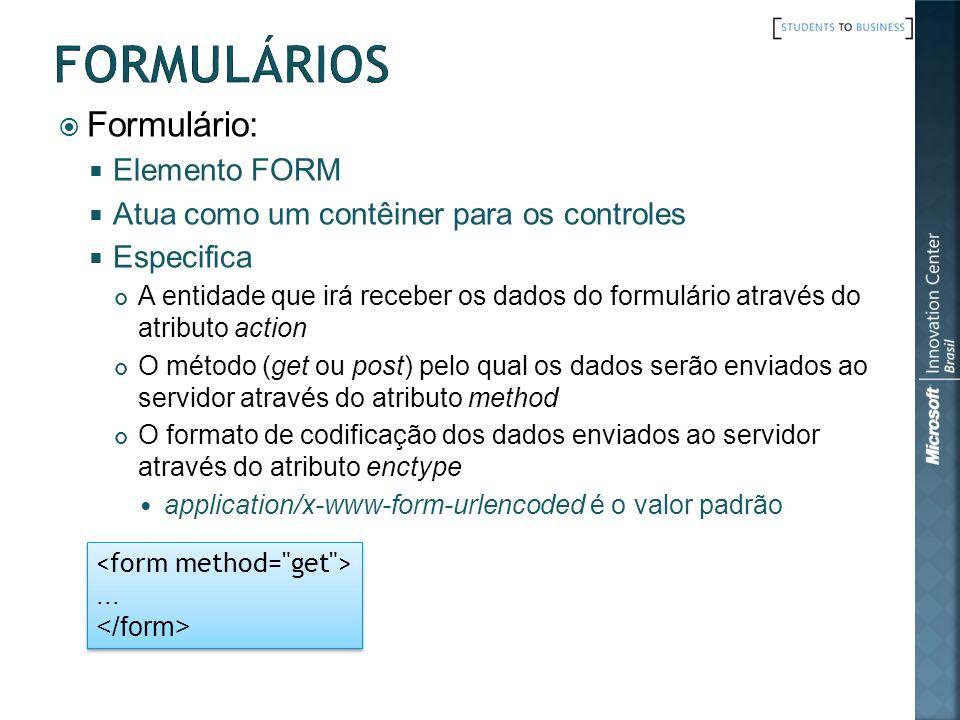 Formulários Formulário: Elemento FORM
