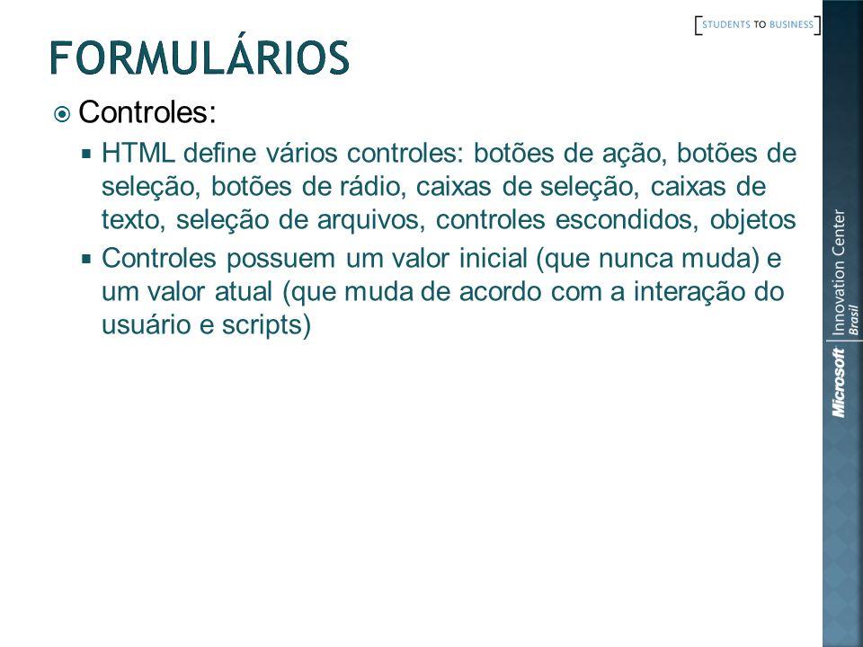 Formulários Controles: