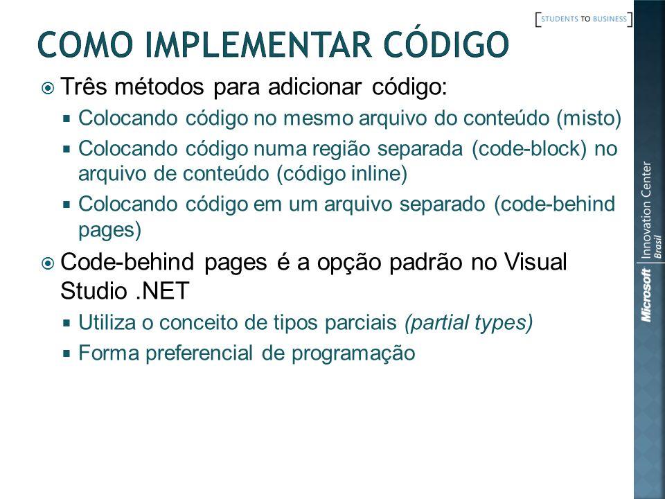 Como implementar código