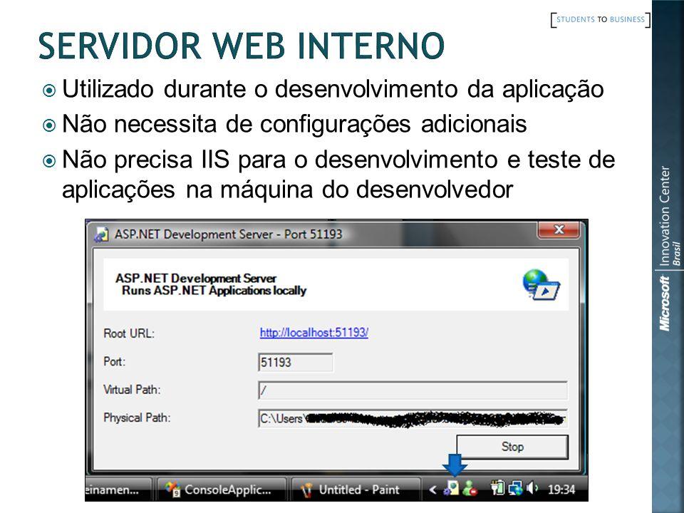 Servidor Web Interno Utilizado durante o desenvolvimento da aplicação