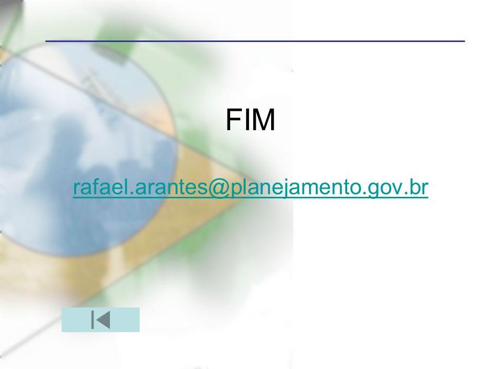 FIM rafael.arantes@planejamento.gov.br