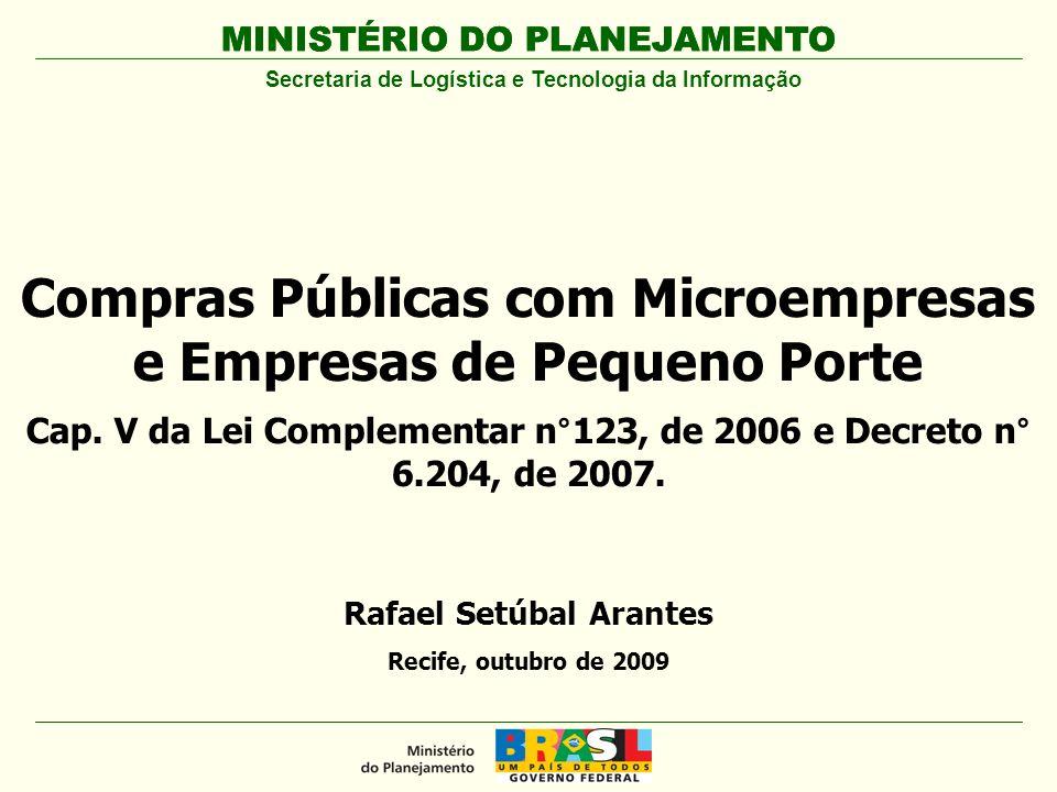 Compras Públicas com Microempresas e Empresas de Pequeno Porte