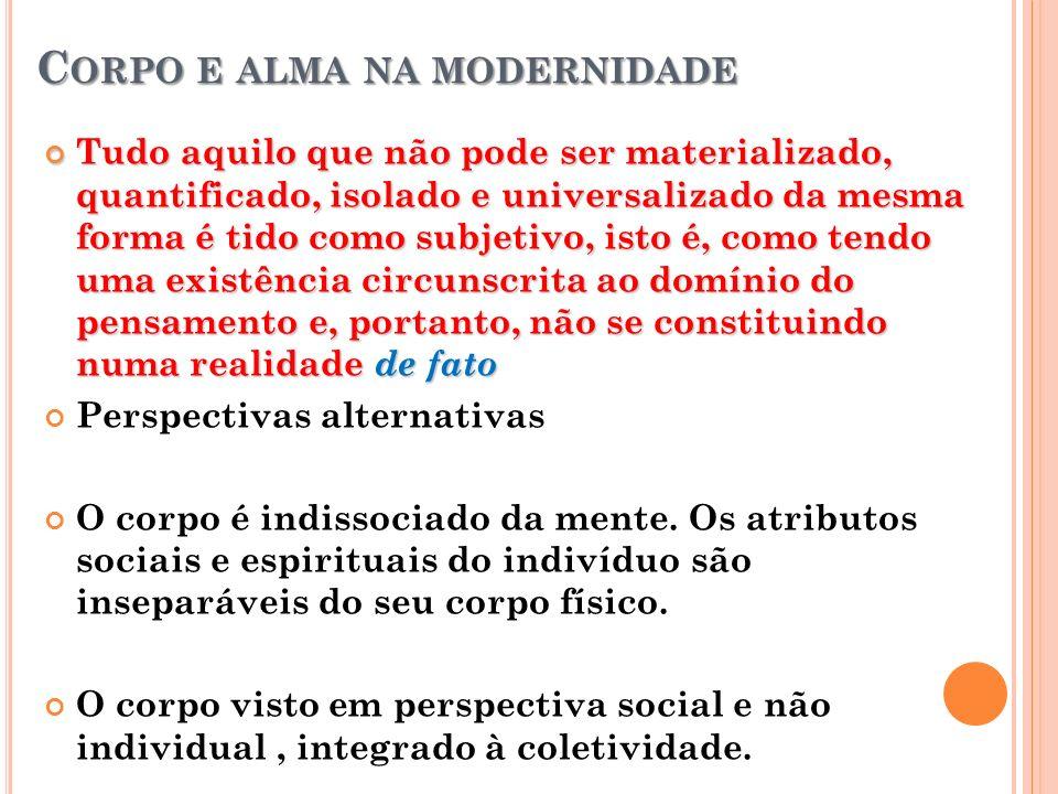 Corpo e alma na modernidade