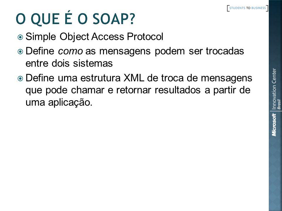 O que é o SOAP Simple Object Access Protocol