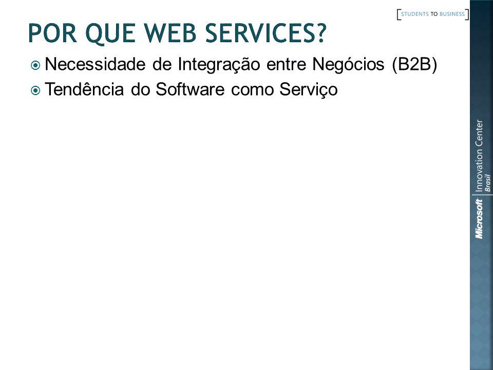 Por que Web Services Necessidade de Integração entre Negócios (B2B)