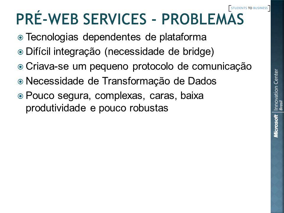 Pré-Web Services - Problemas