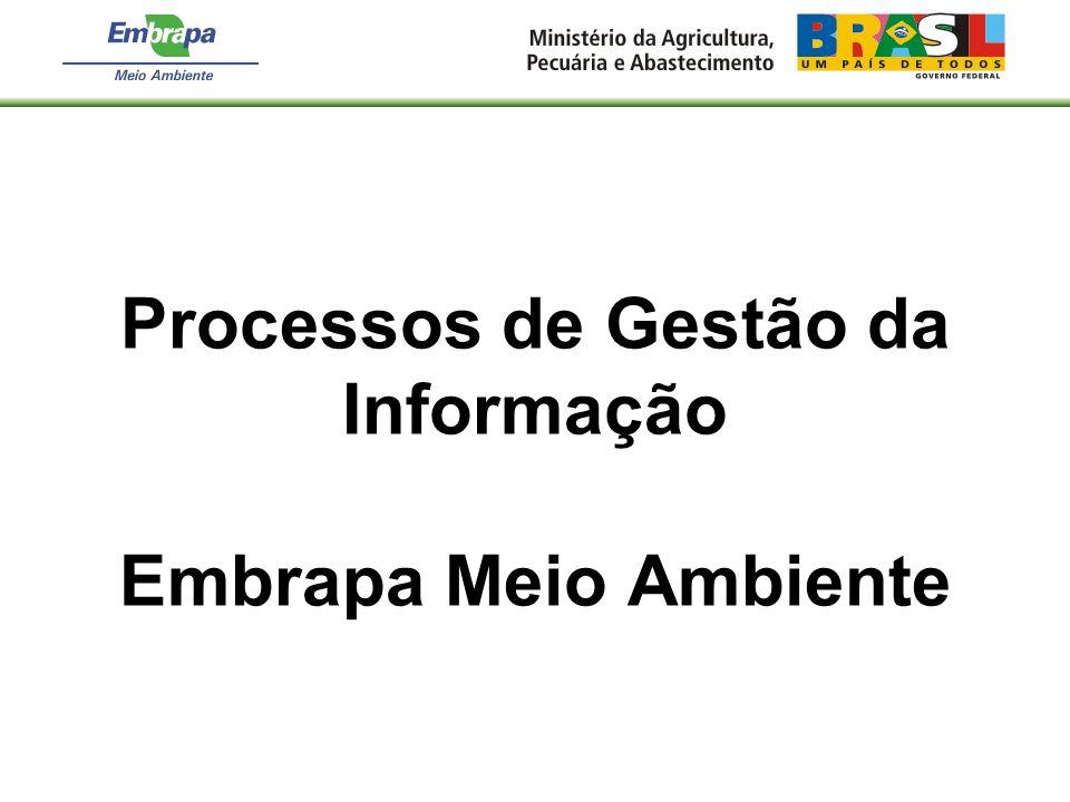 Processos de Gestão da Informação Embrapa Meio Ambiente