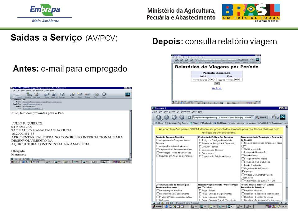 Saídas a Serviço (AV/PCV)