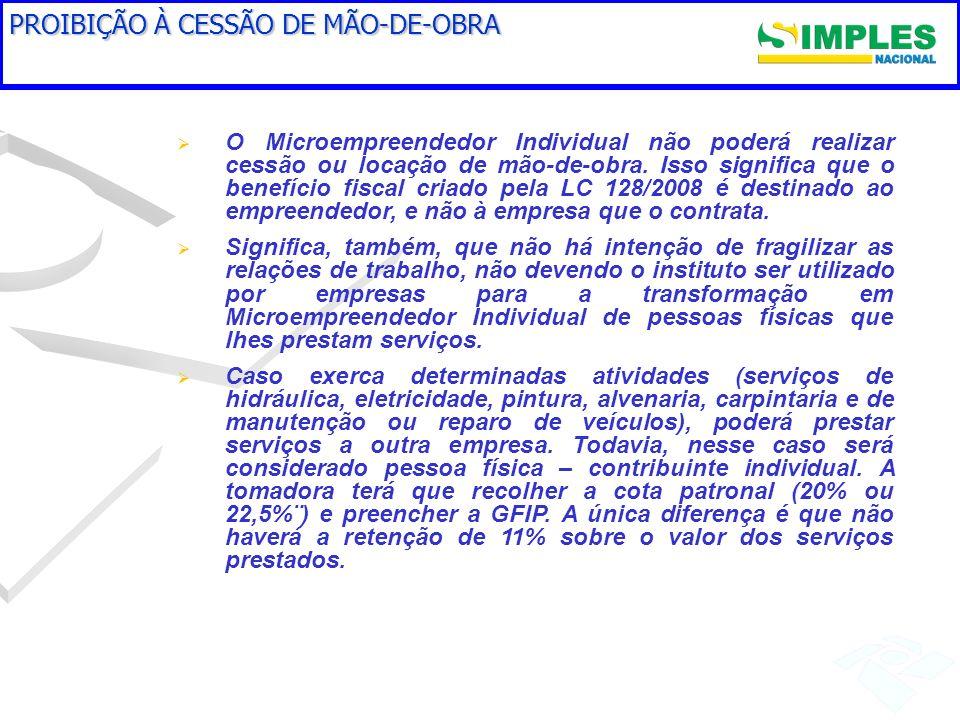 PROIBIÇÃO À CESSÃO DE MÃO-DE-OBRA