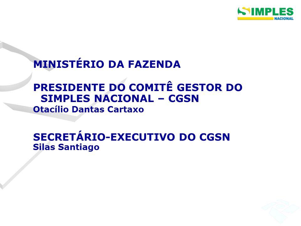 PRESIDENTE DO COMITÊ GESTOR DO SIMPLES NACIONAL – CGSN