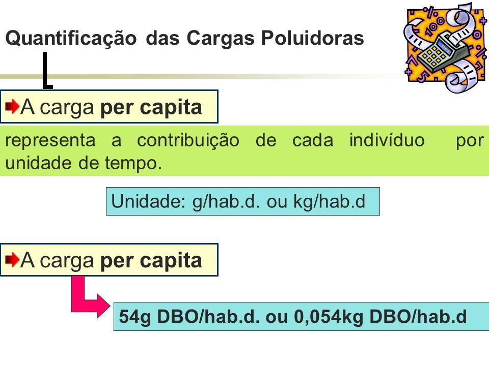A carga per capita A carga per capita