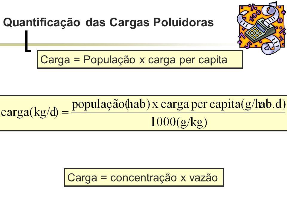 Quantificação das Cargas Poluidoras