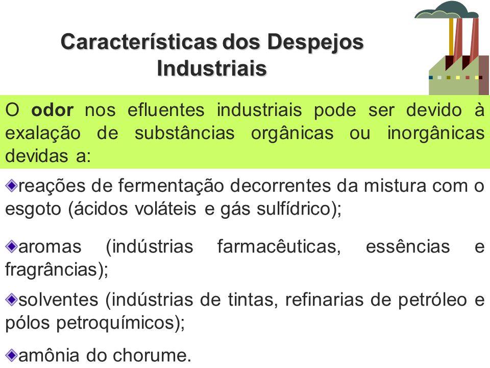 Características dos Despejos Industriais