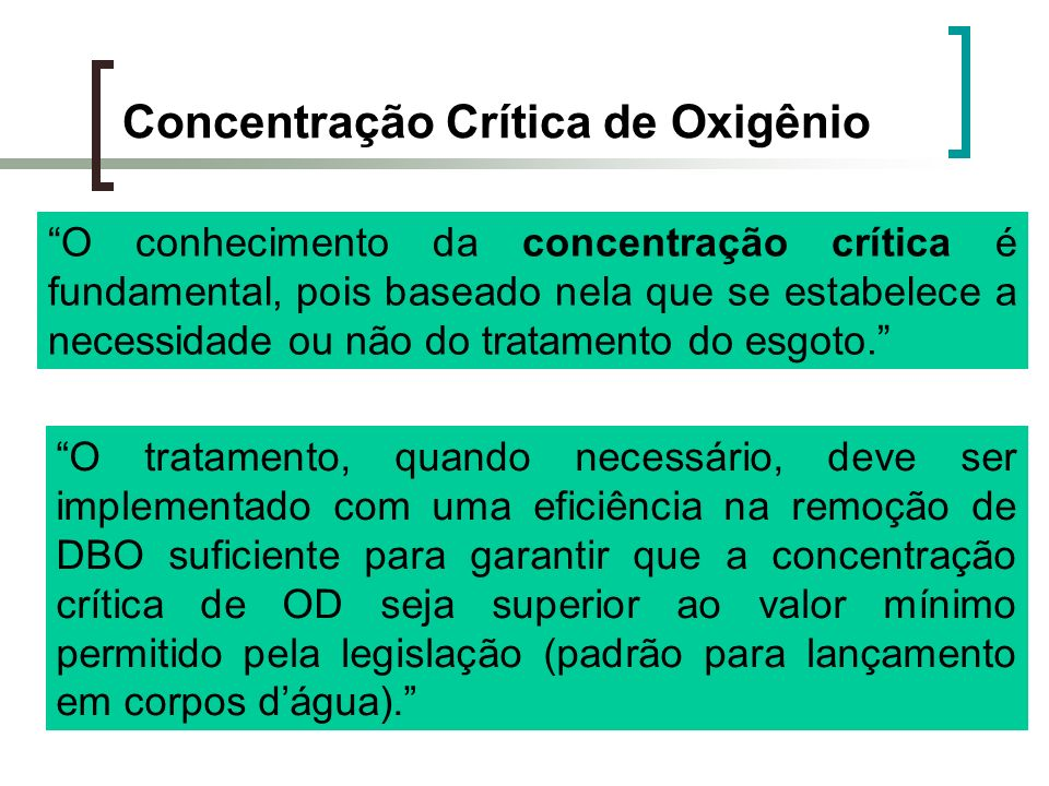 Concentração Crítica de Oxigênio