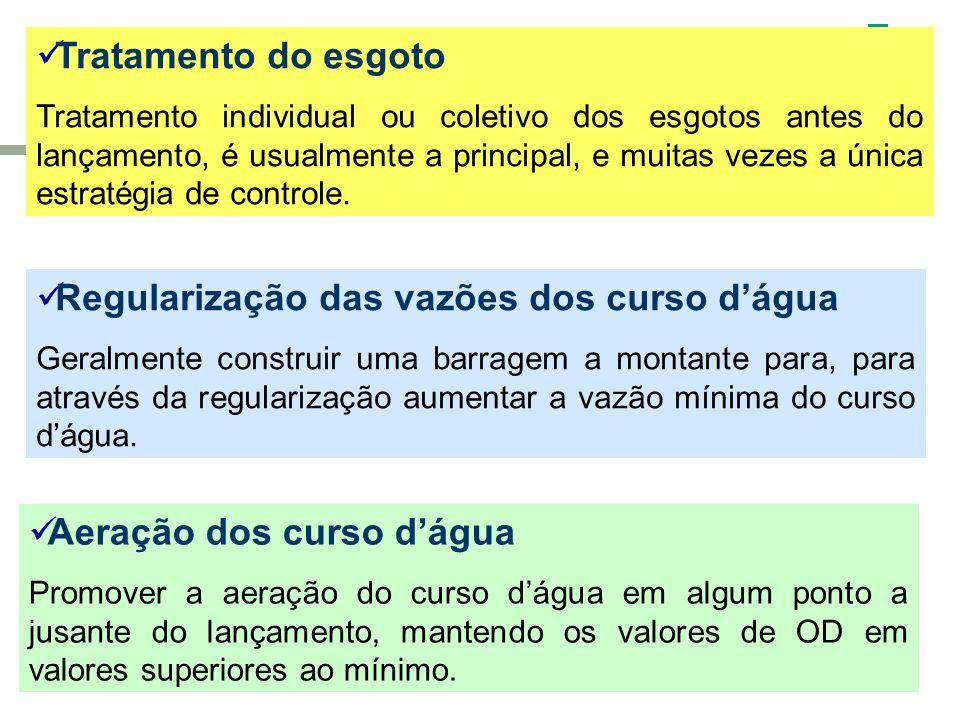 Regularização das vazões dos curso d'água