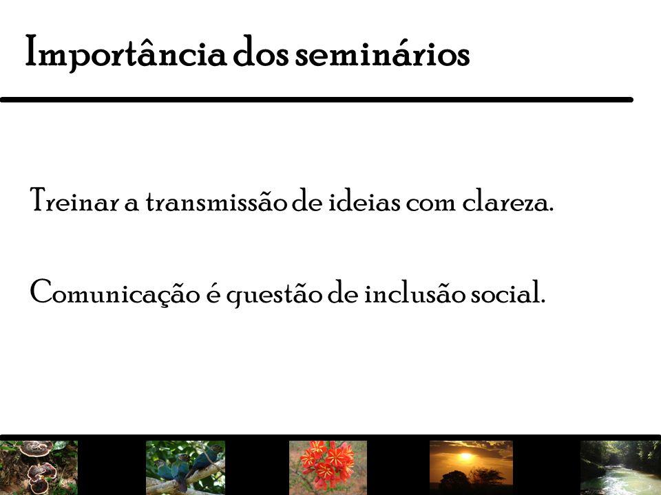 Importância dos seminários