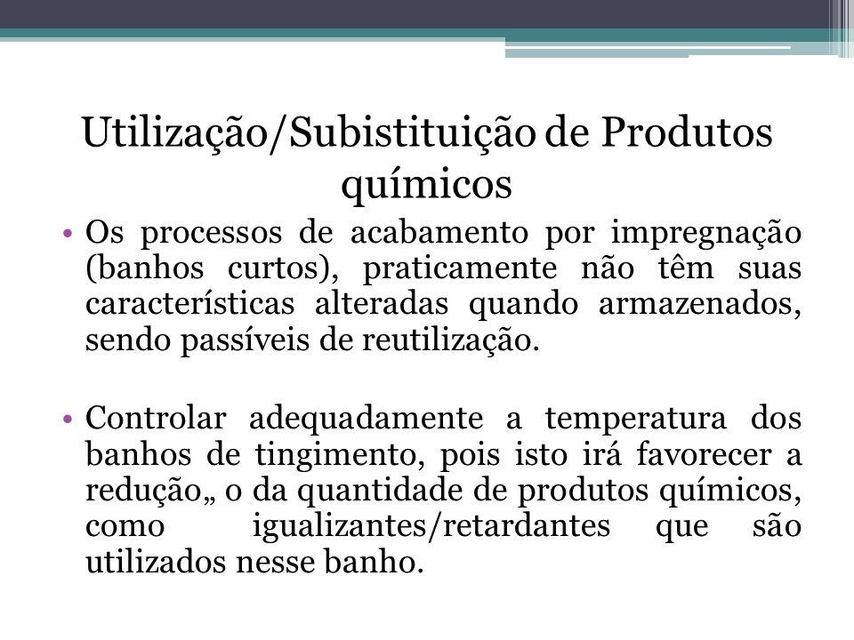 Utilização/Subistituição de Produtos químicos