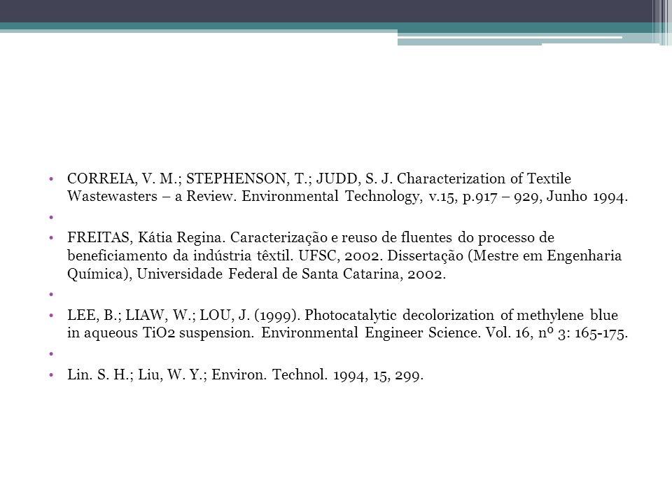 CORREIA, V. M. ; STEPHENSON, T. ; JUDD, S. J