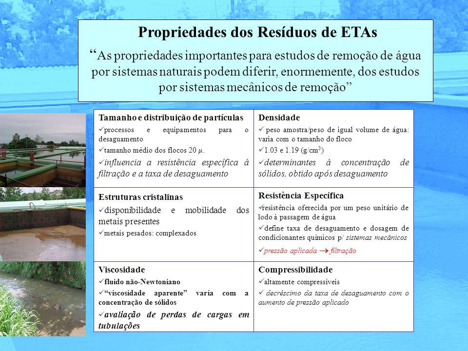Propriedades dos Resíduos de ETAs