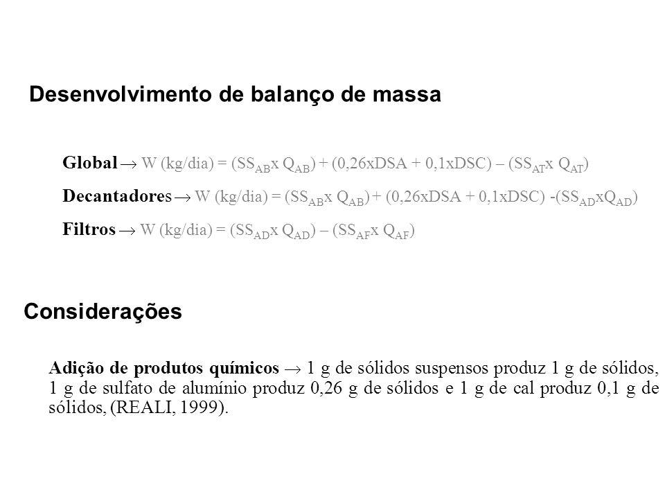 Desenvolvimento de balanço de massa