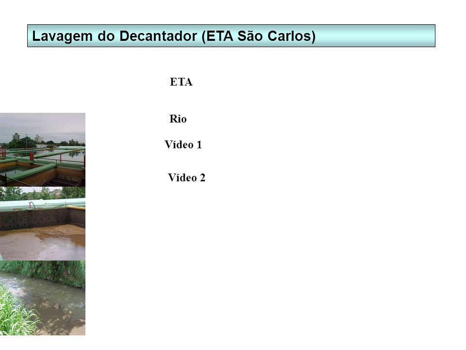 Lavagem do Decantador (ETA São Carlos)