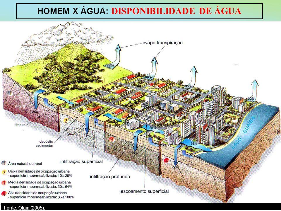 HOMEM X ÁGUA: DISPONIBILIDADE DE ÁGUA