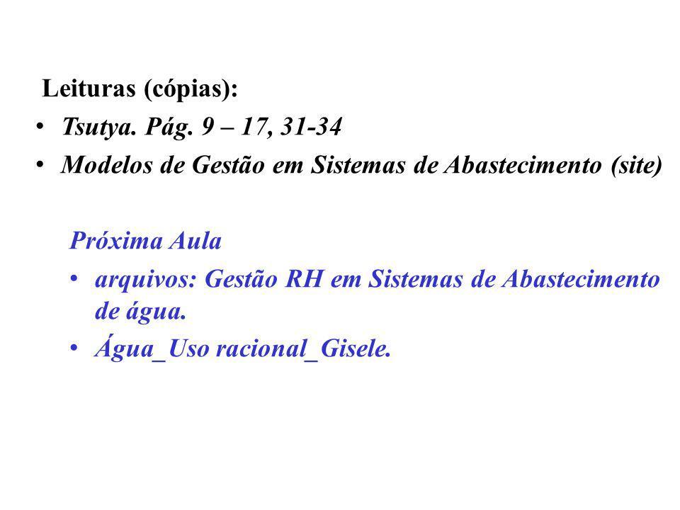 . Leituras (cópias): Tsutya. Pág. 9 – 17, 31-34