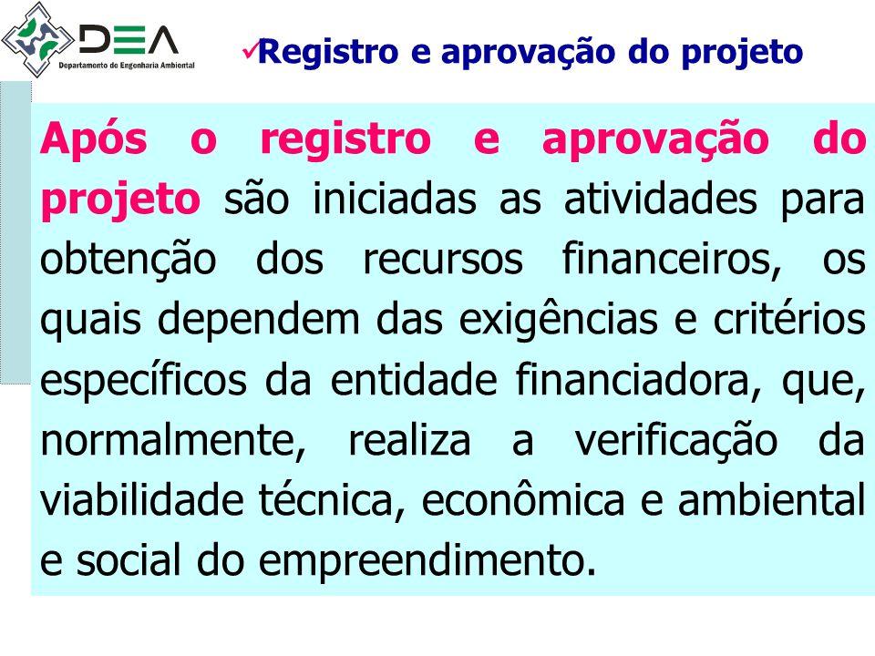 Registro e aprovação do projeto