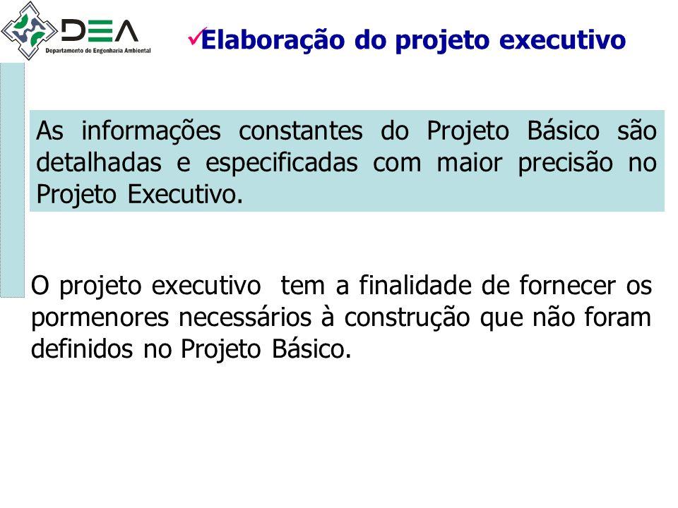 Elaboração do projeto executivo