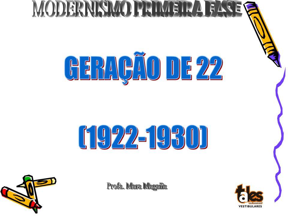 GERAÇÃO DE 22 (1922-1930) Profa. Mara Magaña