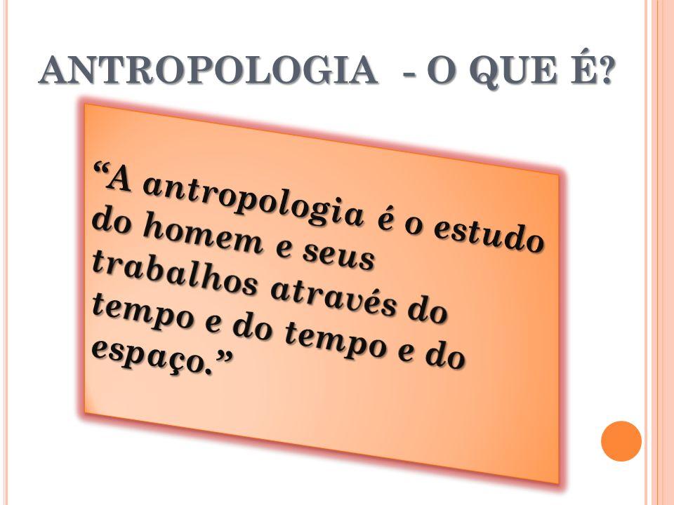 ANTROPOLOGIA - O QUE É.