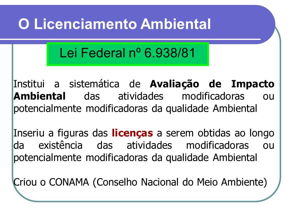 O Licenciamento Ambiental