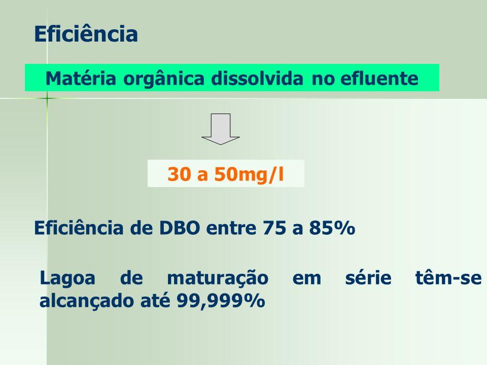 Matéria orgânica dissolvida no efluente