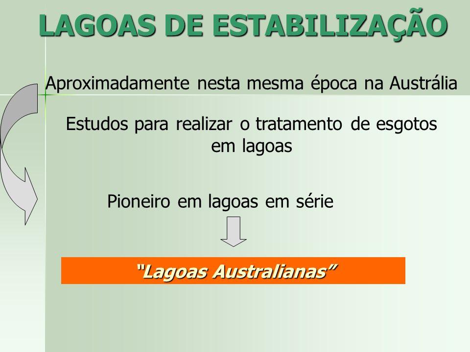 LAGOAS DE ESTABILIZAÇÃO Lagoas Australianas
