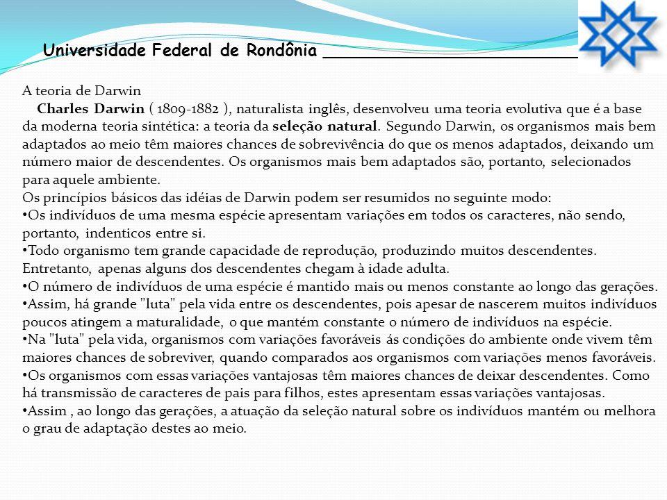 Universidade Federal de Rondônia __________________________