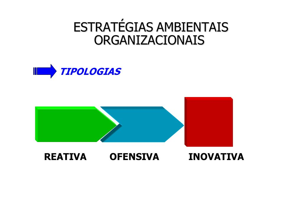 ESTRATÉGIAS AMBIENTAIS ORGANIZACIONAIS
