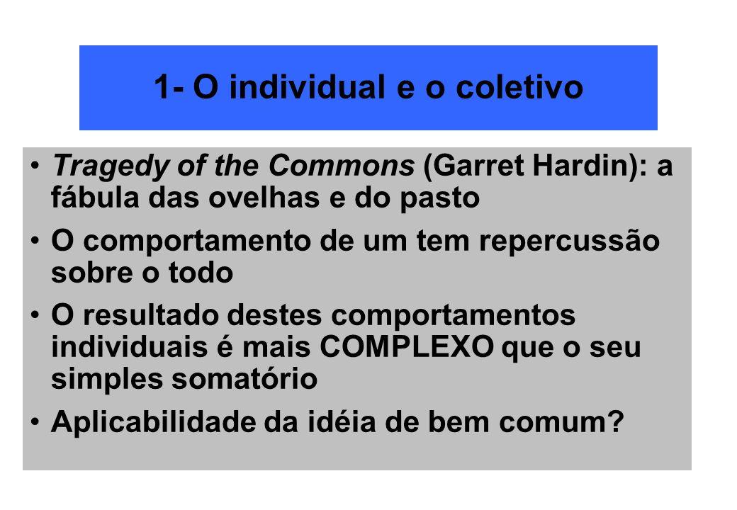 1- O individual e o coletivo