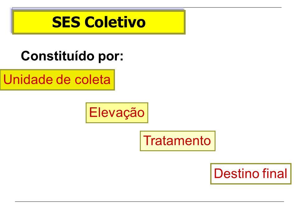 SES Coletivo Constituído por: Unidade de coleta Elevação Tratamento