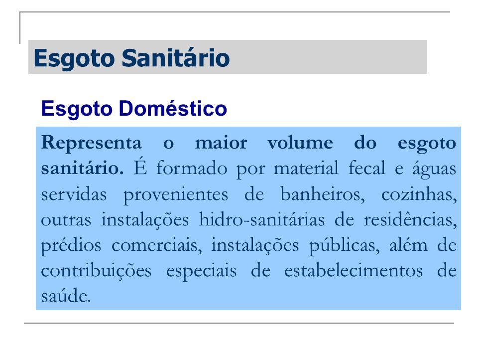 Esgoto Sanitário Esgoto Doméstico
