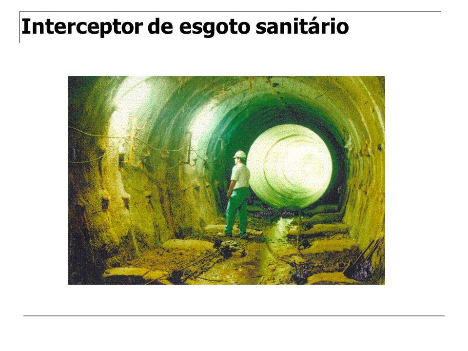 Interceptor de esgoto sanitário