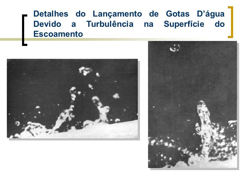 Detalhes do Lançamento de Gotas D'água Devido a Turbulência na Superfície do Escoamento