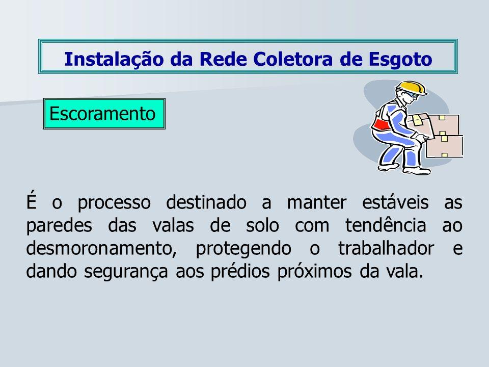 Instalação da Rede Coletora de Esgoto