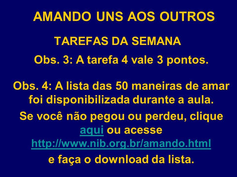 Obs. 3: A tarefa 4 vale 3 pontos. e faça o download da lista.